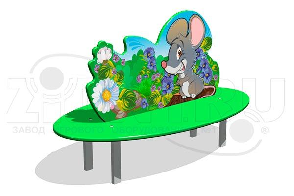 Скамейка детская «Мышонок», превью