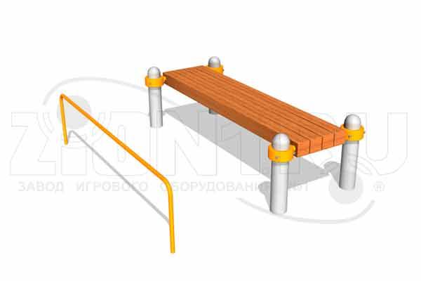 Скамья для пресса БВА2000-М1 для площадок ГТО превью