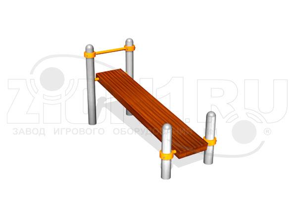 Скамейка для пресса наклонная ВА012 для ГТО и воркаута, превью