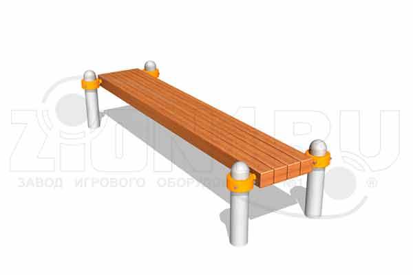 Скамья гимнастическая БВА2000 для спортивных площадок, превью