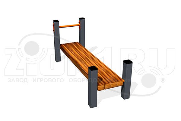 Скамья для пресса горизонтальная ВБ-200Б превью
