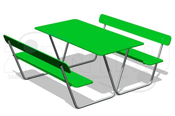 Стол уличный со скамьями М4, превью
