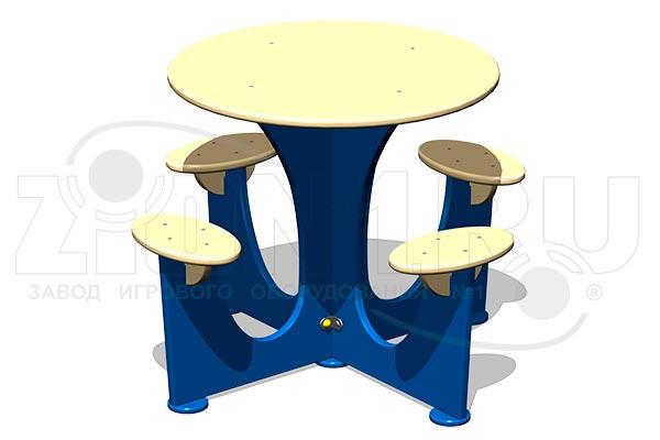 Стол уличный со скамьями М5, превью