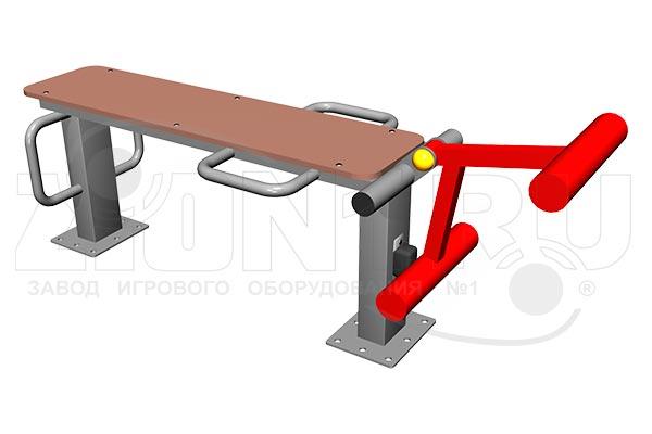 Уличный тренажер для мышц бедра, превью