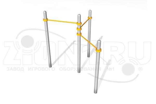 Тройной каскад турников для подтягивания ВА001 для воркаута превью