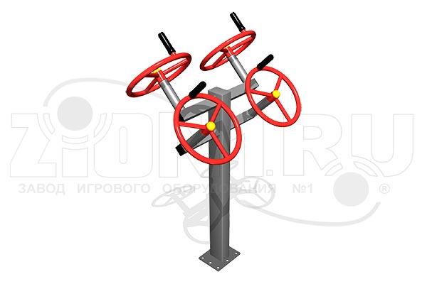 Уличный тренажер двойной «Рули», превью