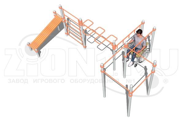 Воркаут-комплекс ВА084 (для колясочников), превью