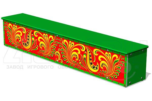 Ящик-скамья для теневых навесов «Хохлома М1», превью