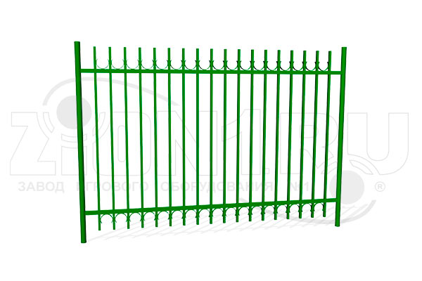 Забор металлический ОЗ-64 превью
