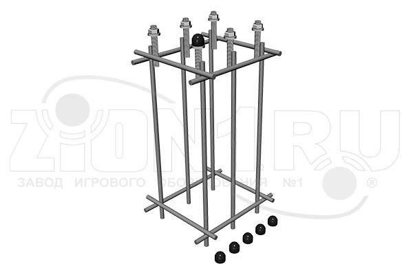 Закладная деталь для тренажера на 6 креплений, превью