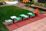 Фото 2 скамейки детской разновысокой «Гусеница», превью