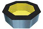 Вид желтого батута уличного «Восьмиугольник», превью