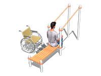 3410)Брусья в подъем со скамьей (для колясочников)