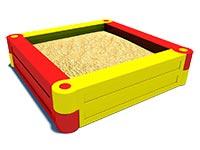 3420)Детская песочница пластиковая «Квадрат»