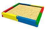 3423)Детская песочница пластиковая «Квадрат 1»