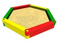 3419)Детская песочница пластиковая «Шестигранник»