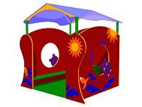 Детский игровой домик «Бегемотик» эскиз