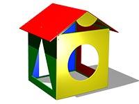 97)Детский игровой домик «Геометрия»