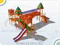 Детский игровой комплекс «Москва» эскиз