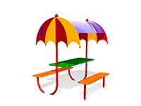 251)Детский столик с навесом «Зонтик»