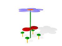 256)Детский столик с навесом «Цветок»