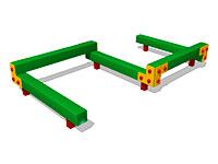 3349)Детский гимнастический бум «Змейка 5»