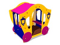 3362)Детский игровой домик «Карета 3»