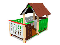 3392)Домик «Хижина с оградой»