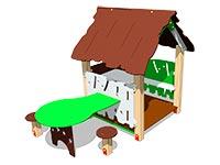 3391)Домик «Хижина со столиком»