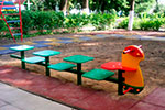 Фото 1 скамейки детской разновысокой «Гусеница», превью
