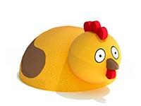 3435)Фигура из резиновой крошки «Курочка» для игровых площадок