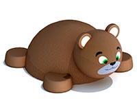 3437)Фигура из резиновой крошки «Мишка»