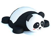3438)Объемная фигура из резиновой крошки «Панда»