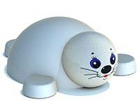 3450)Фигура из резиновой крошки «Тюлень» для детских садов