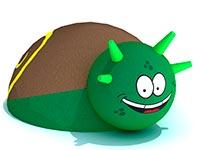 3432)Фигура из резиновой крошки для детских садов «Улитка»