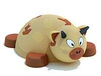 3426)Объемная фигура «Коровка» из резиновой крошки