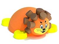 3433)Игровая резиновая фигура «Львенок»