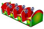 Вид сзади игрового макета «Машинка Гусеничка», превью