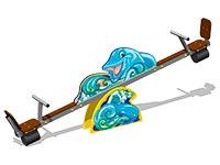 3510)Качалка-балансир «Дельфины У1»