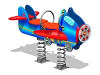 3496)Качалка на пружине «Аэроплан У1»