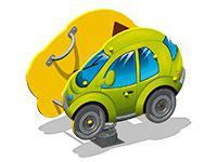 3497)Качалка на пружине «Автомобиль У1»