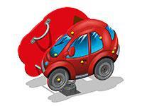 3498)Качалка на пружине «Автомобиль У2»