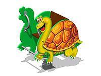 3493)Качалка на пружине «Черепаха У1»
