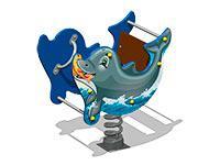 3476)Качалка на пружине «Дельфин У1»