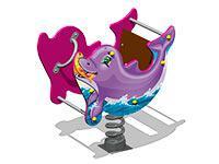 3502)Качалка на пружине «Дельфин У2»