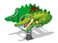 3495)Качалка на пружине «Крокодил У1»