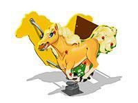 3492)Качалка на пружине «Лошадка У1»