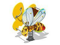 3486)Качалка на пружине «Пчелка У1»
