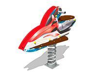 3487)Качалка на пружине «Скутер У1»