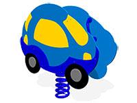 40)Качалка на пружине «Автомобиль»